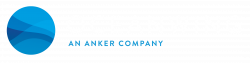 Oceanwins logo it contains ocean image in a circle and its side write OCEANWING in white color and its below write AN ANKER COMPANY in blue color