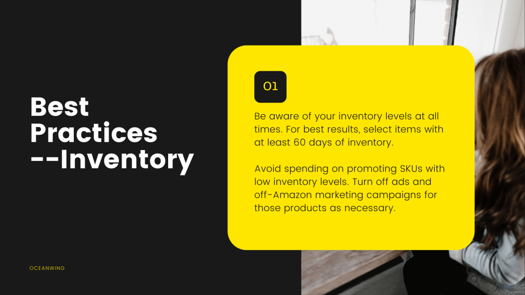 short description about Best Practices - Inventory and its background a girl with long hair