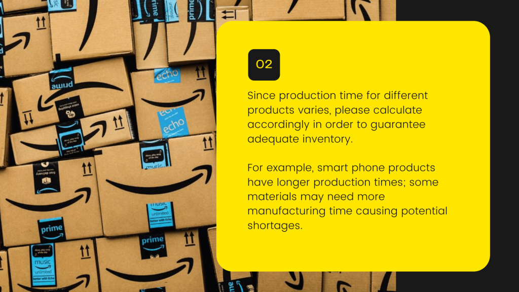 description about production time with a background primeday products